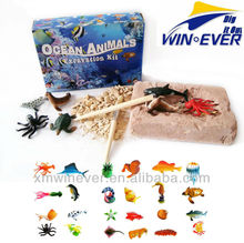 Plastic Ocean Animals, 6 assorted.
