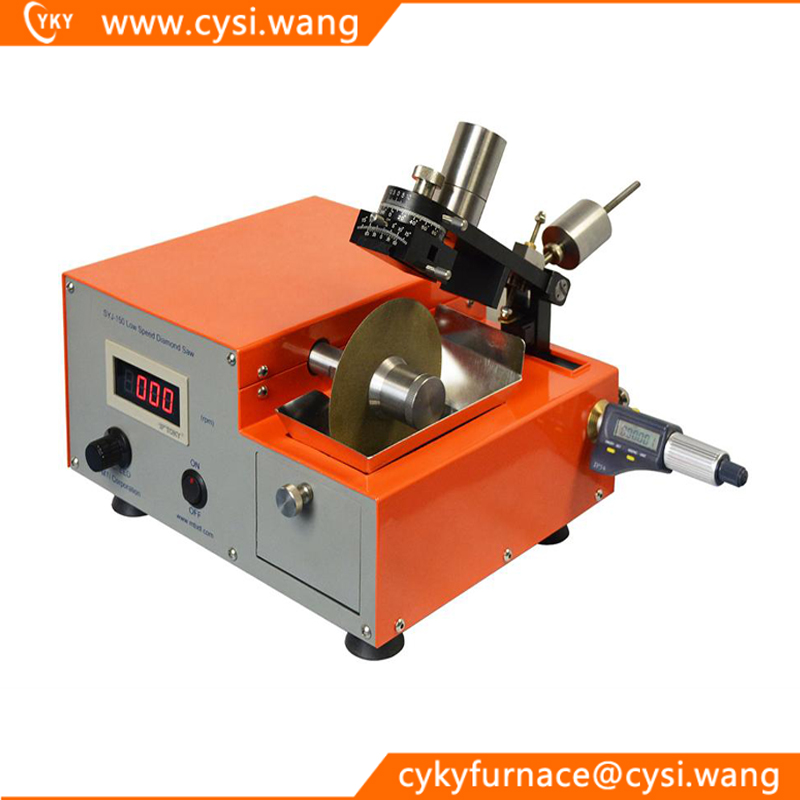 Digital Low Speed Diamond Saw - SYJ-150 for cutting brittle crystals, ceramics, TEM samples