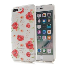 Flower custom cover smartphone clear silicone for iphone 7plus case mobile phone,for iphone 7 plus cover case free sample
