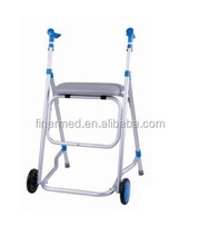 2 wheels Walking Aid Cart with seat
