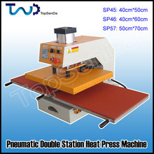 High pressure 2 stations pneummatic heat press machine for clothing