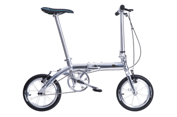 "14"" New Fashion Portable Single Speed Folding Bicycle Mini Foldable Bike-Silver"