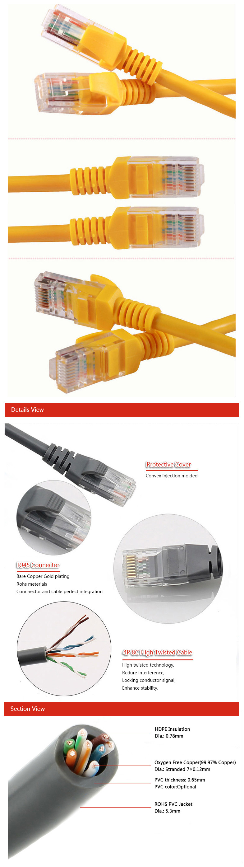 Free Samples Unshild Twisted rj5 patch cord cable Stranded Conductor Used in Structured Cabling