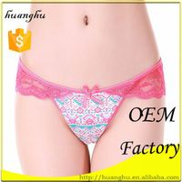 Colorful Low rise red logo lace girls in thongs g strings