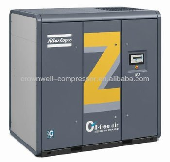 Atlas Copco Oil-free air- and water-cooled rotary screw compressor Model ZE 3 ZE 4 ZA 5 ZA 6