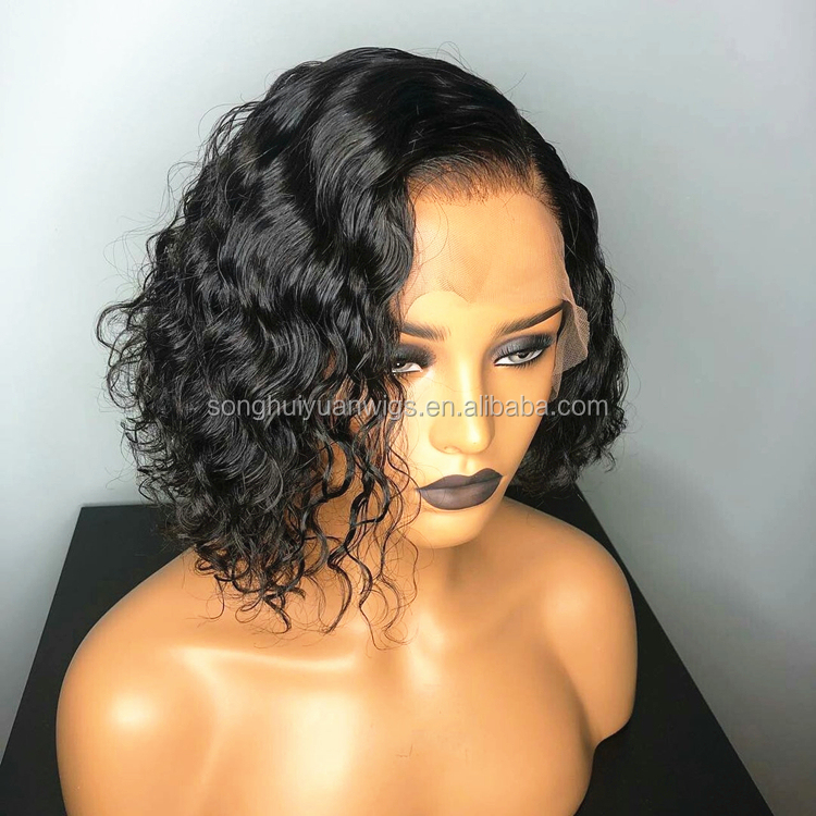 Short Human Hair Wig Bob Cut Full Lace Wigs With BaBy Hair