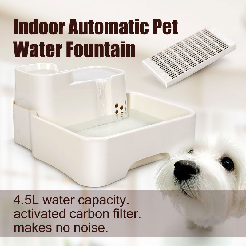 automatic cat water drinking fountain