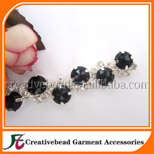 fashion design acrylic rhinestone trimmings for dresses made in China
