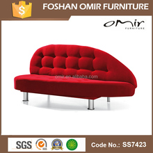 Omir furniture red l-shaped sliding sofa bed heart shaped sofa SS7423