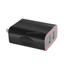 2 port QC 2.0 USB Chargers quick charge 2.0 technology, 5V 9V 12V output