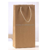eco Brown Kraft Paper Bag With Handles Shopping Packaging/Top quality custom Gift Bag With Kraft Paper /stylish Brown Paper Bag