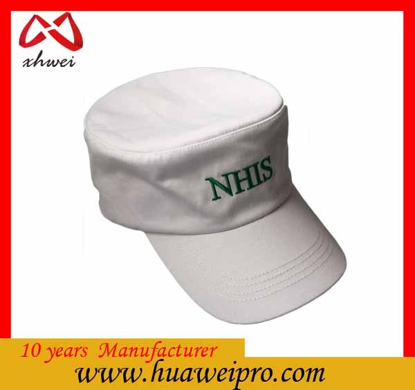 China factory custom high quality military hard hat/flat printed cotton with embroidery logo army caps
