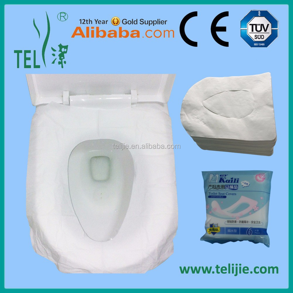 Disposable toilet mat/waterproof paper toilet seat cover for puerpera