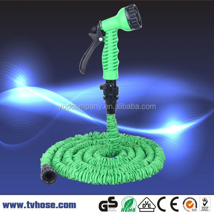 2 year warranty 25ft garden elastic shrinking kink free expanding water hose