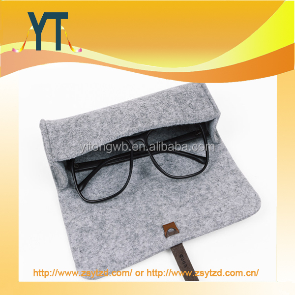 YT Fashion Pure Color Wool Felt For Glasses Case
