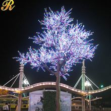 Colorful led flower tree with lights for outdoor decoration