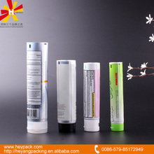 cosmetic usage plastic aluminum tube with foil sealing