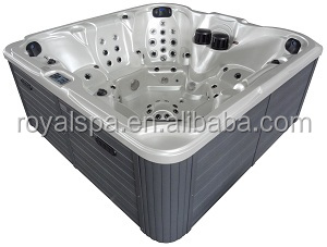 Portable 7 People Hydrotherapy Sexy Massage Outdoor Square Spa