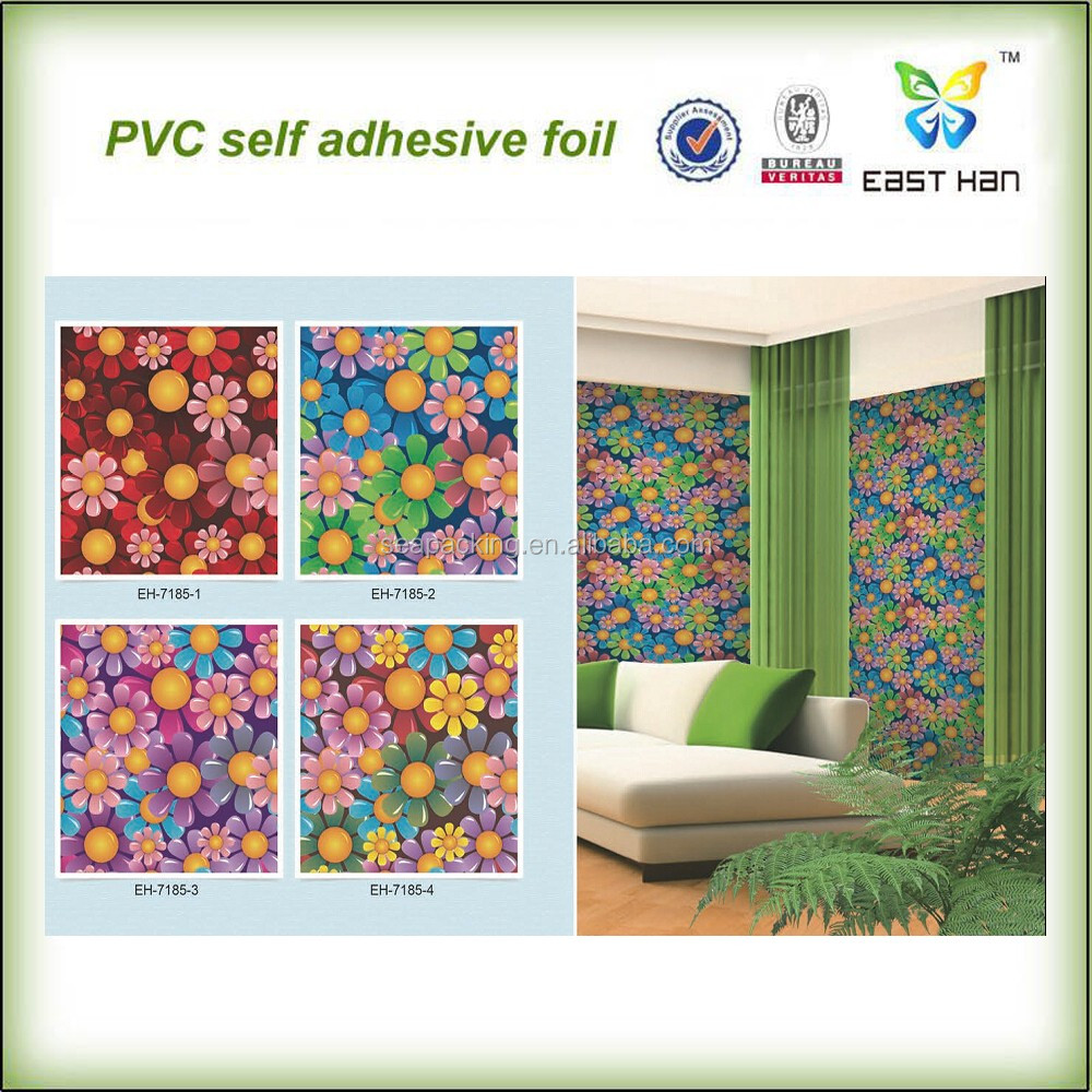 natural pvc self adhesive wallpaper/3d beatiful wall sticker for home decoration