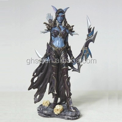Guo hao hot sale custom 8inches plastic dota 2 model figure , good paint dota model figure statue