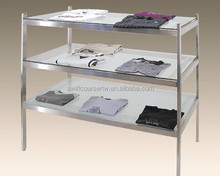 Glass Clothes Frame Merchandisers For Garment Shop