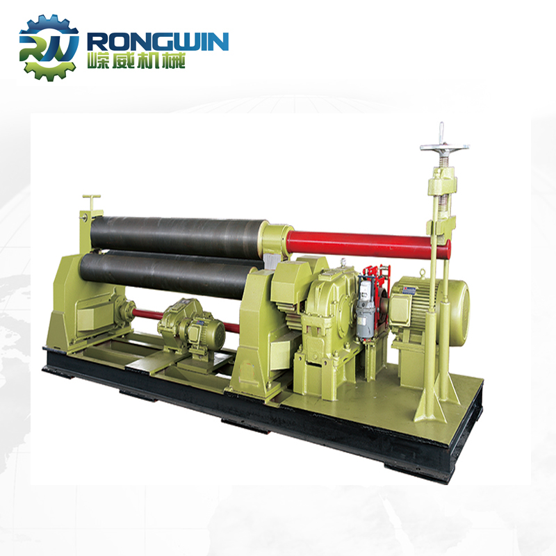 Hand operated Mechanical 3 roller steel plate bending metal sheet rolling machine for sale
