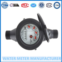 Multi jet Dry dial Plastic Water Meter High Performance 20mm