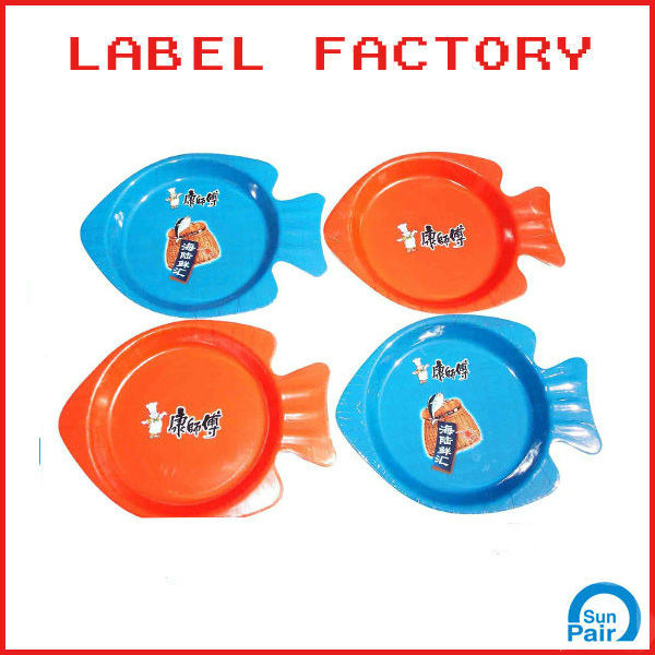 Master Kong fish plastic plate in mould label