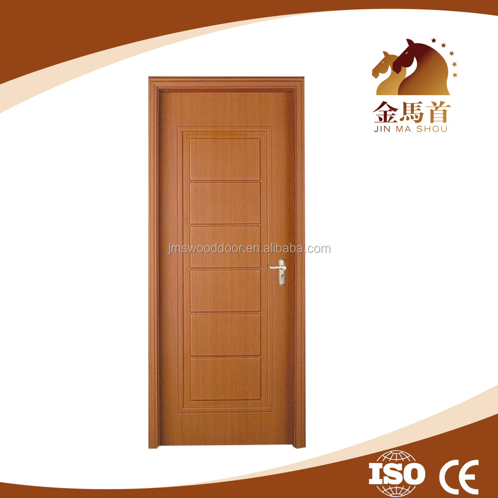 China 2016 New Design swing opening durable doors interior PVC coated MDF Wood Doors for living room