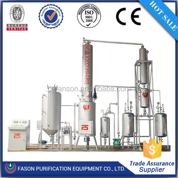 Small scale portable crude oil and waste oil refinery