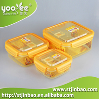 Promotional Housewares 3 pcs Plastic Food Containers with Lids