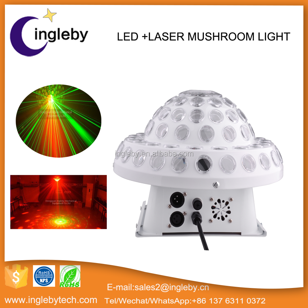 Mushroom shape strong powerful led stage light with multi pattern laser led backlight stage lighting