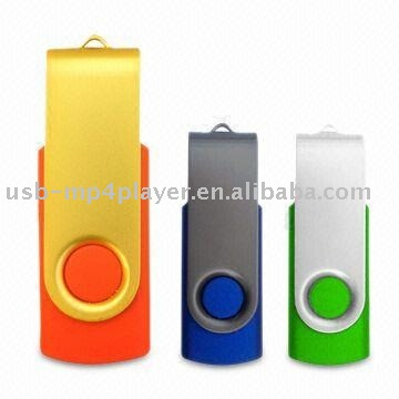 Plastic swivel metal construction material 1000gb usb flash drive with ROHS certificate