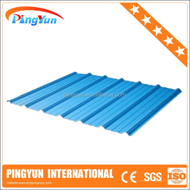 price of corrugated pvc roof sheet/water resistant/plastic roof sheet
