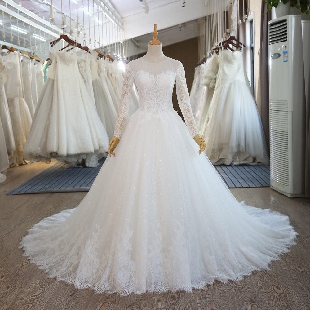 SL-89 Alibaba Wedding Gown Sequins Tulle Lace Bridal Dress China 2017