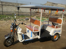 2015 indian style battery operated rickshaw with ABS roof