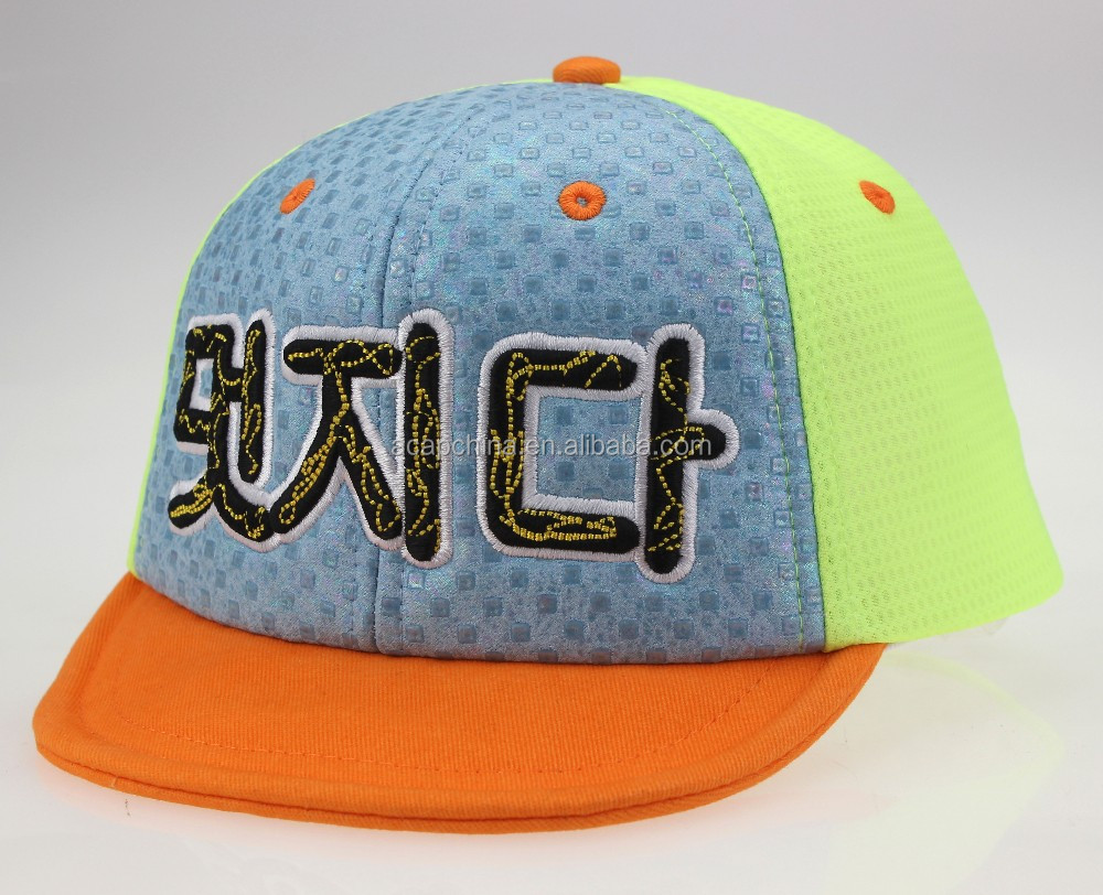 Wholesale Eco-friendly Folding Bill Babies Truck Mesh Cap With 3D Embroidery Pattern