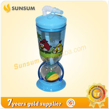 Factory sale personalized kids plastic cups with straws