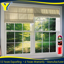 PVC Aluminum Lift Slider Windows Picture With Grill Design and Mosquito Screen