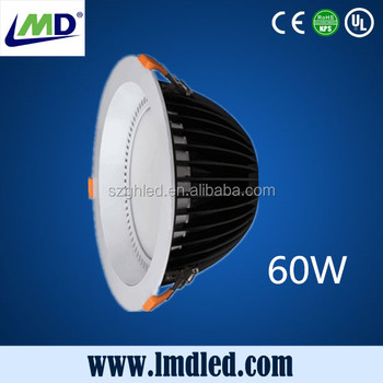 High lumen 8 inch 60W aluminum LED downlight