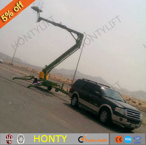 Hydraulic movable lc200 car trailer articulated boom lift for distributor