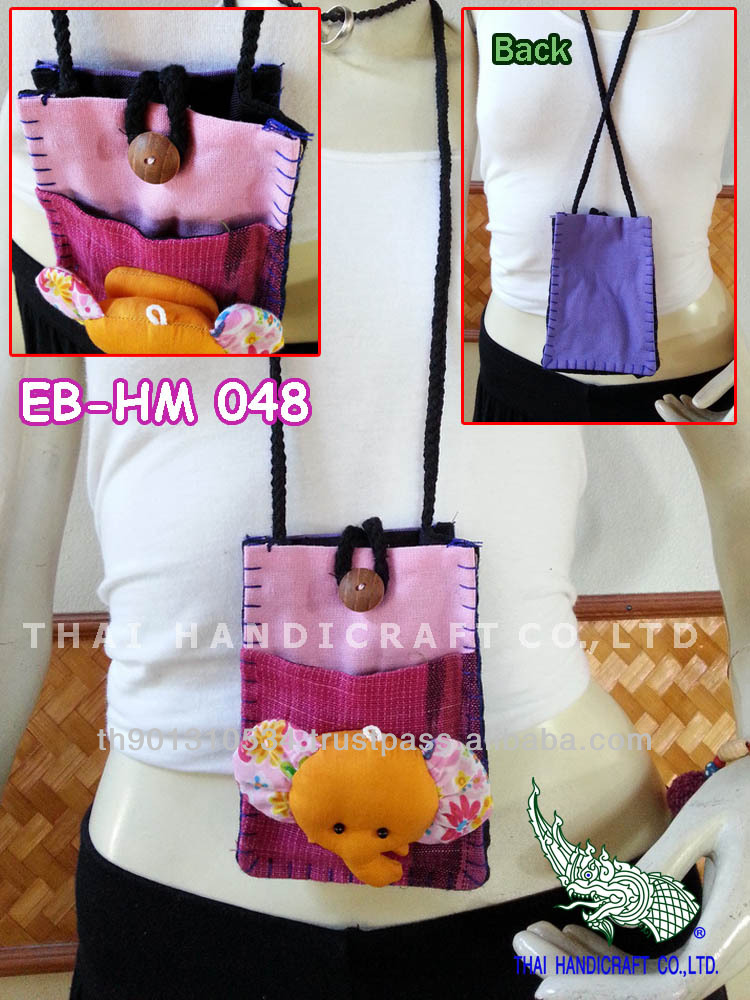 Thai Handmade Elephant Call Phone bag Mobile bag