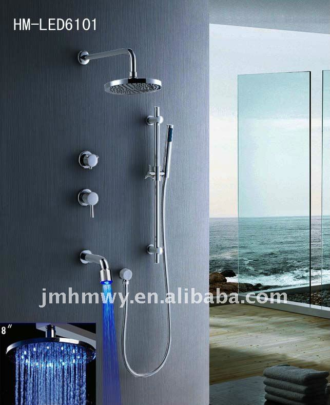 Brass consealed rain shower set