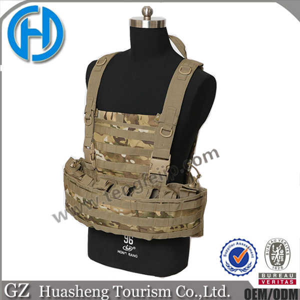 multicam camo tactical molle vests with chest rigs