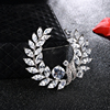 SWTR1304 Clear Crystal Rhinestone Floral Wreath Pin Brooch,china wholesale brooch