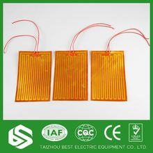 Low voltage polyimide thin film heater