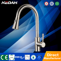304# SS brushed nickel finished manual and touch sensor china kitchen sink faucet HY-292D