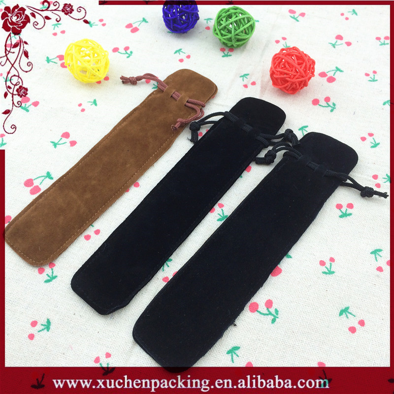 Wholesale Fashion Design Drawstring Velvet Pen Gift Bag