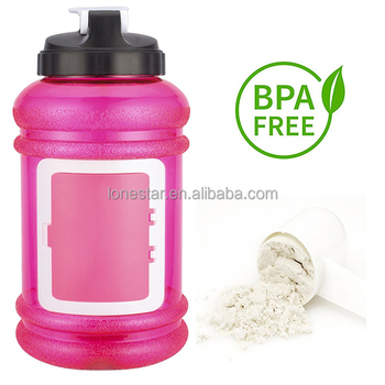 Amazon top selling Best colorful plastic 2200ml wide mouth water bottle with lid in USA