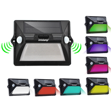 Super Bright 7 color changing IP65 waterproof solar led outdoor wall light